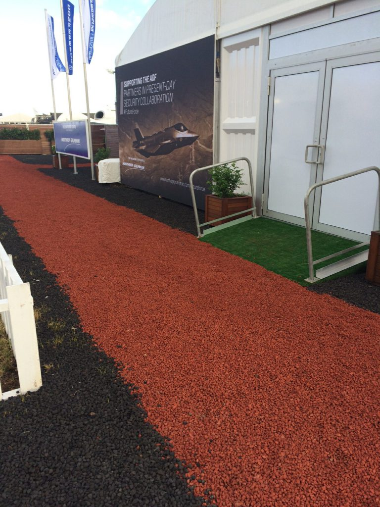 Volcanic Red and Black Aggregate as used at the Avalon air show.