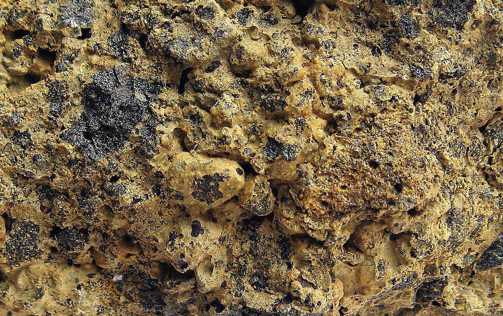 Palagonite before quarrying
